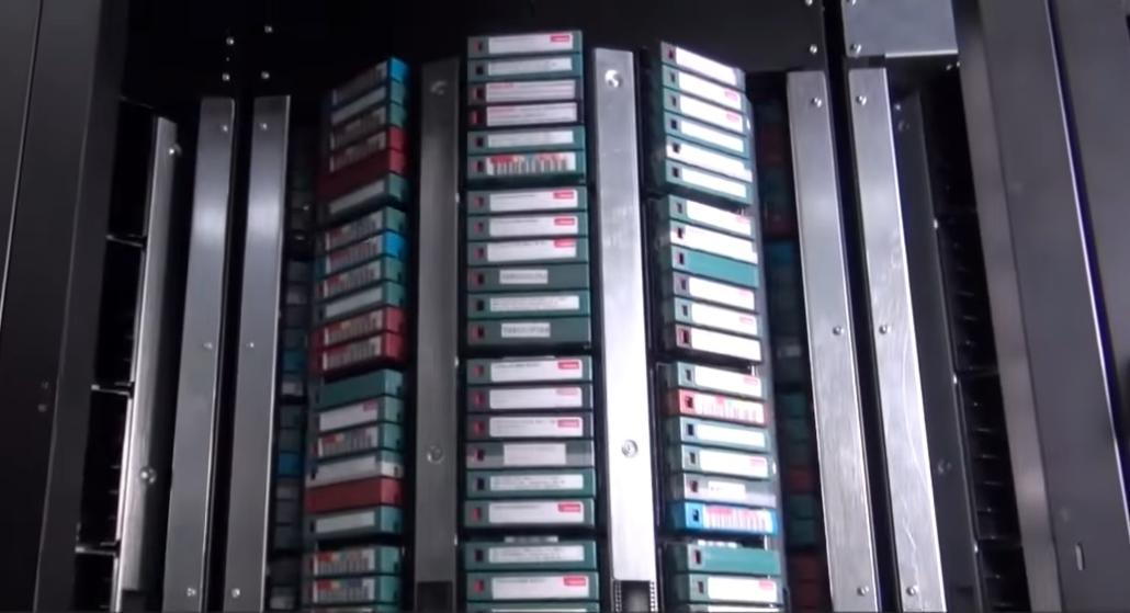Quantum i6000 Tape Library Populated with LTO Tapes